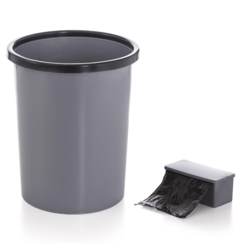 Self-Sachet Gri Kendinden Poşetli Çöp Kovası